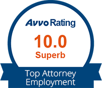 Avvo Rating 10 Superb for Top Attorney logo