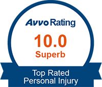 Avvo Rating 10 Superb for Personal Injury logo