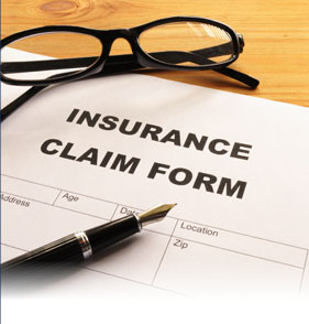 stock photo of insurance claim form